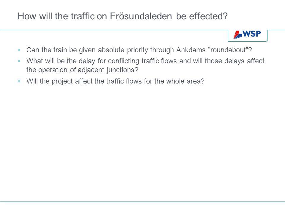 How will the traffic on Frösundaleden be effected.