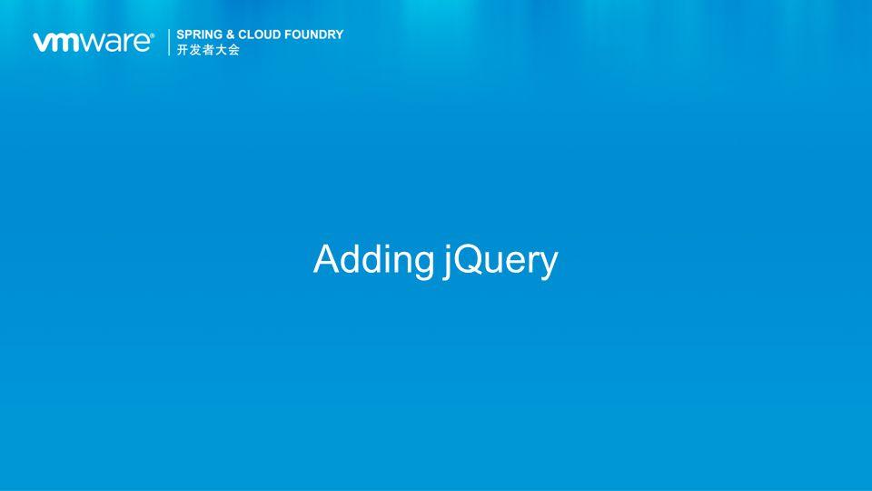 Adding jQuery