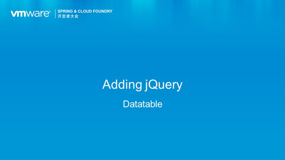 Adding jQuery Datatable