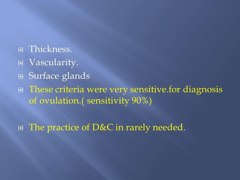 Thickness. Vascularity.