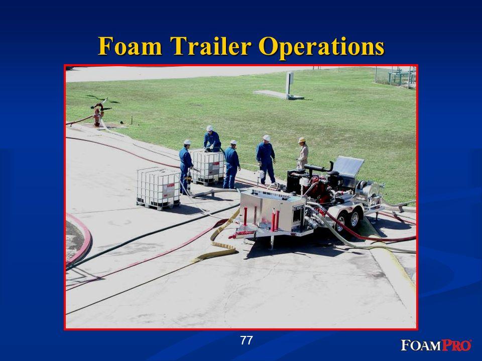 77 Foam Trailer Operations