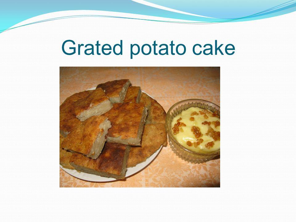 Grated potato cake