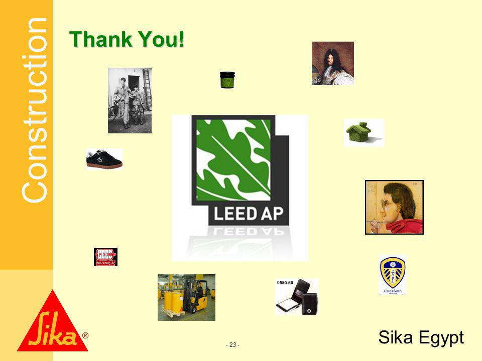 Construction Sika Egypt - 23 - Thank You!