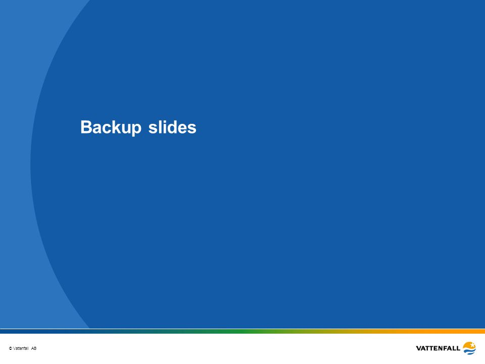 © Vattenfall AB Backup slides