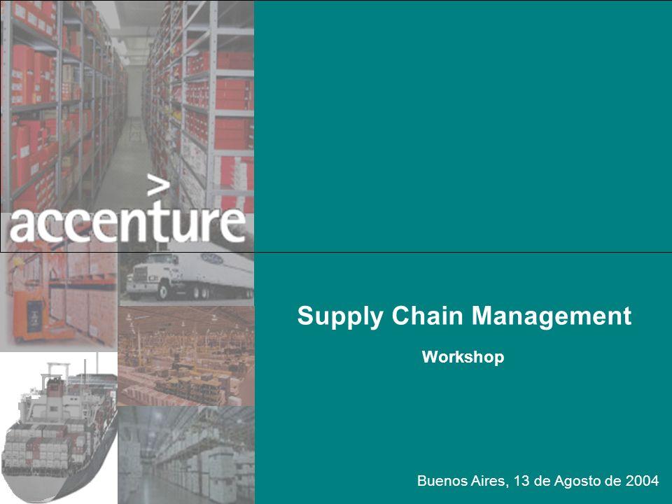 Supply Chain Management Workshop Buenos Aires, 13 de Agosto de 2004