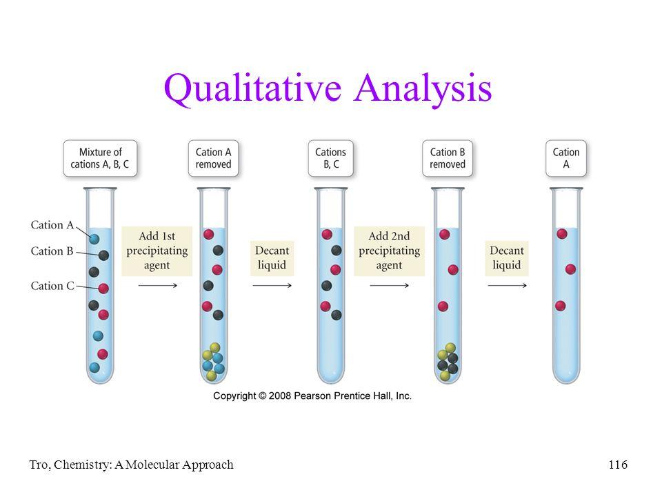 Tro, Chemistry: A Molecular Approach116 Qualitative Analysis