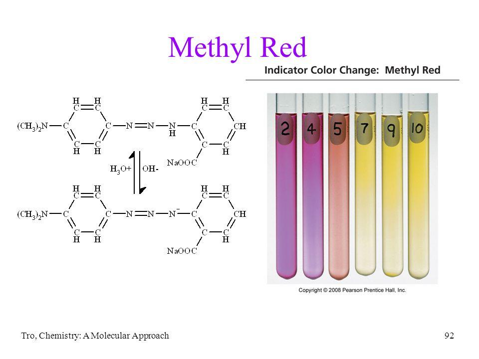 Tro, Chemistry: A Molecular Approach92 Methyl Red
