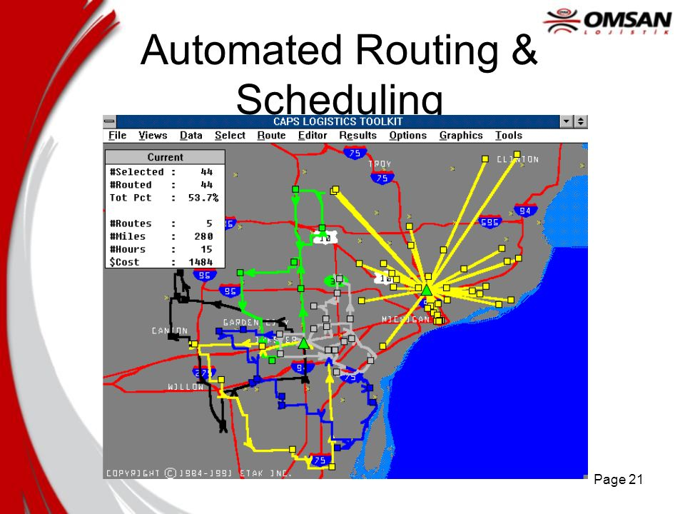 Page 21 Automated Routing & Scheduling