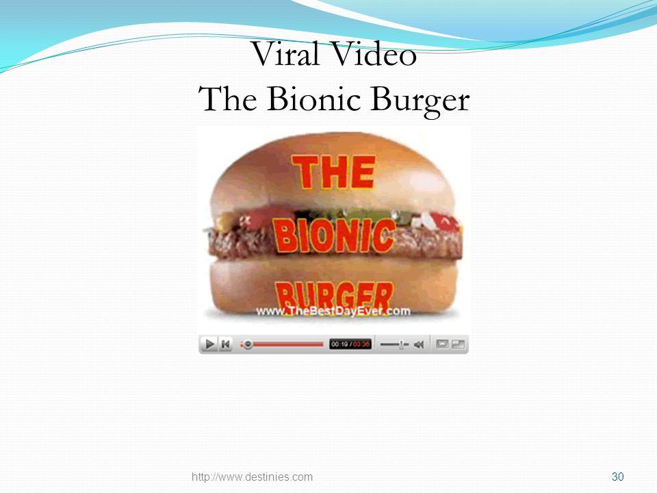 Viral Video The Bionic Burger http://www.destinies.com30