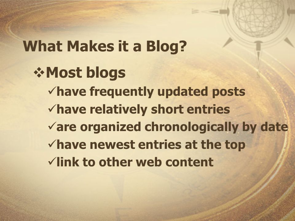 Blog History Following 9/11 blogs were identified & collected in lists patterns emerged the number of blogs increased significantly