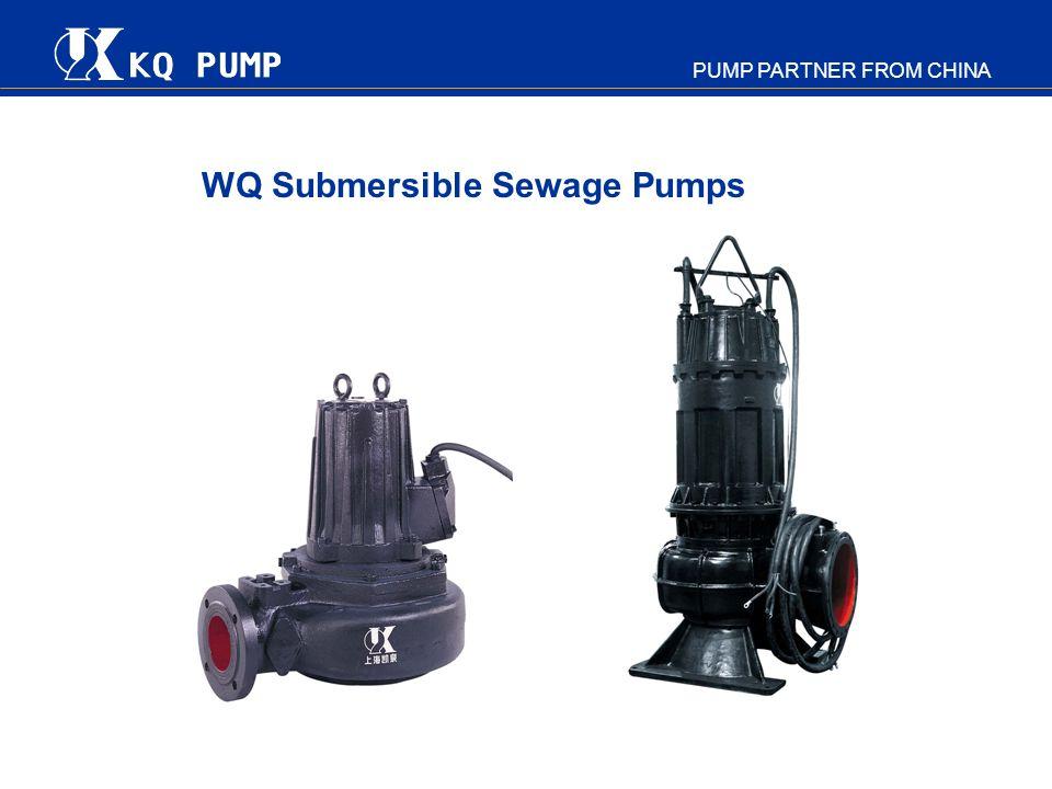 PUMP PARTNER FROM CHINA WQ Submersible Sewage Pumps