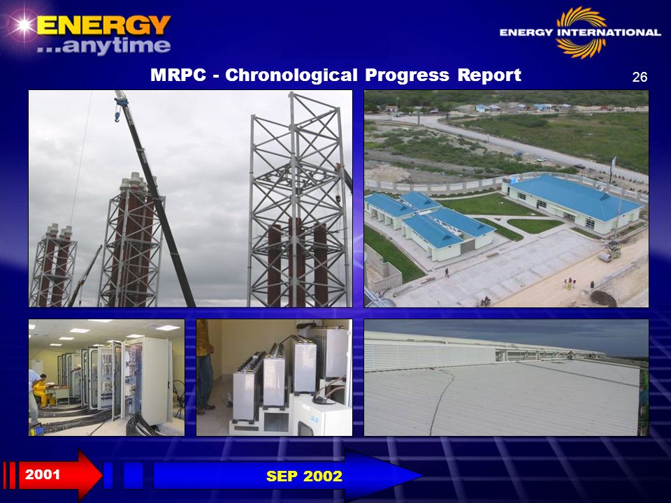 26 MRPC - Chronological Progress Report 2001 SEP 2002