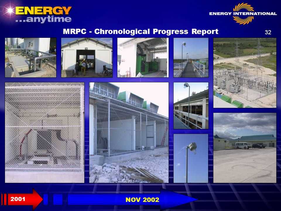 32 MRPC - Chronological Progress Report 2001 NOV 2002