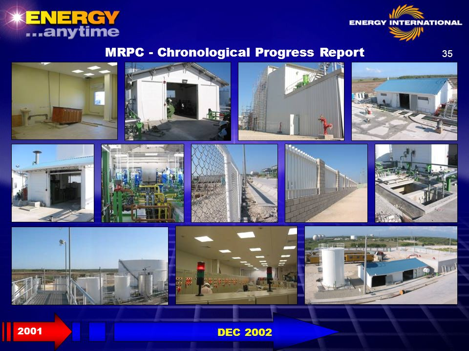 35 MRPC - Chronological Progress Report 2001 DEC 2002