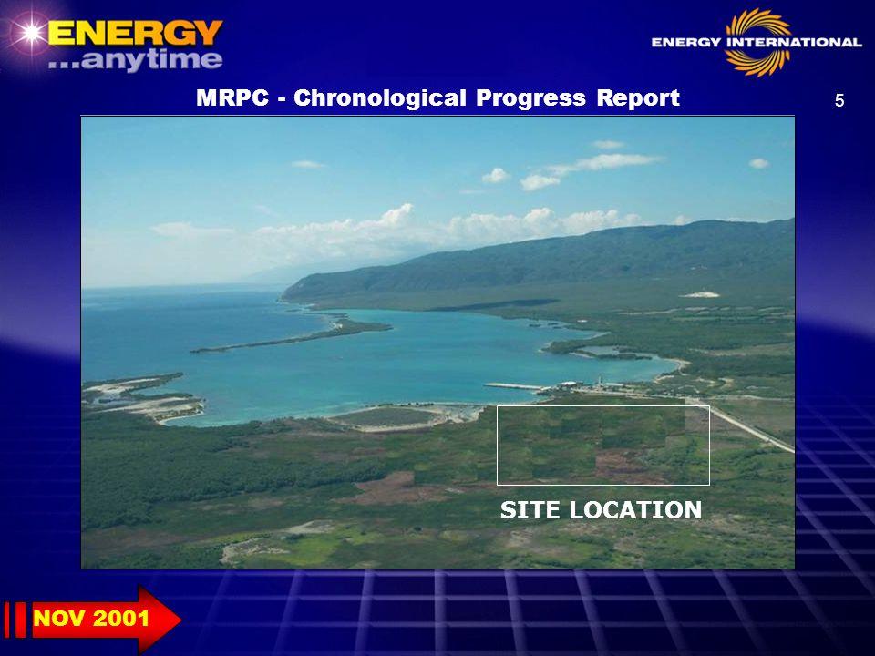 26 MRPC - Chronological Progress Report 2001 SEP 2002