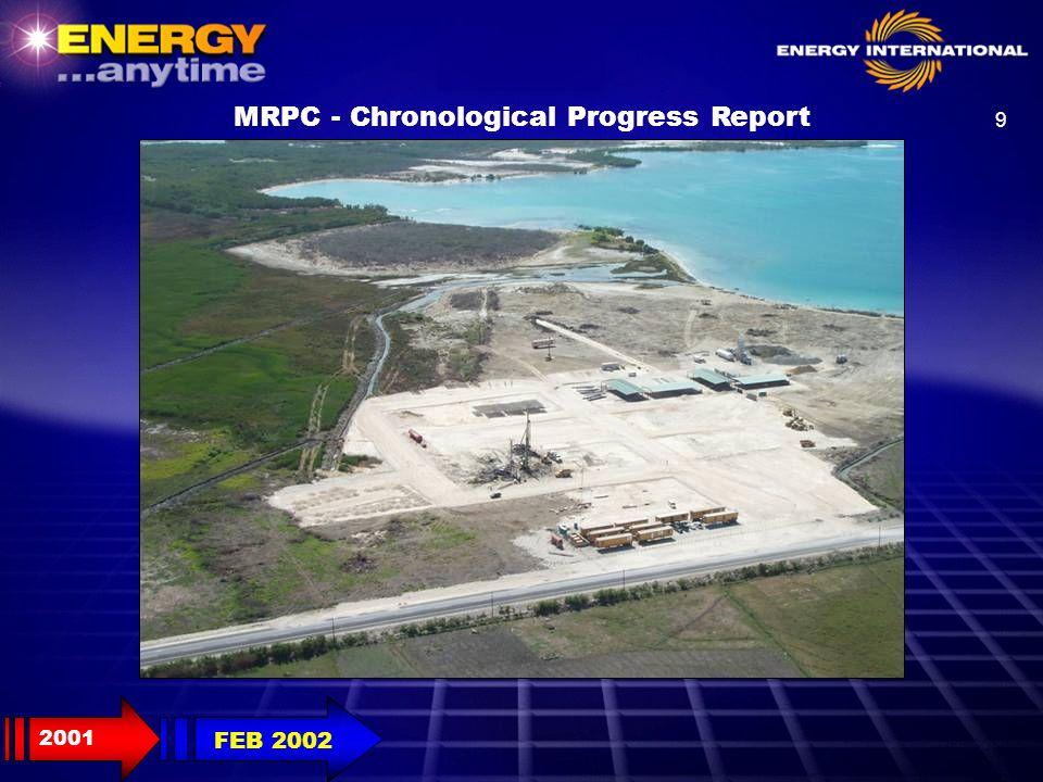 30 MRPC - Chronological Progress Report 2001 OCT 2002