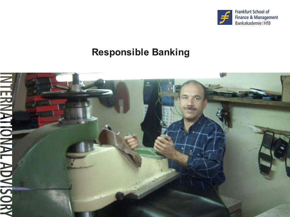 © F r a n k f u r t – S c h o o l. d e Responsible Banking © F r a n k f u r t – S c h o o l. d e