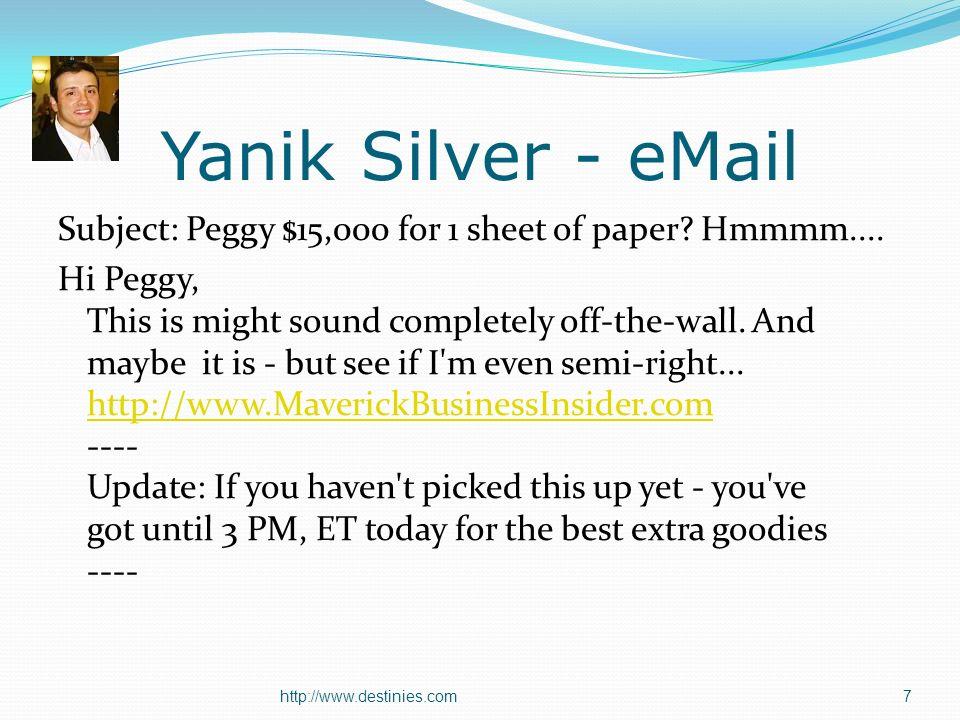 Great Copywriters Gary Halbert - www.thegaryhalbertletter.comwww.thegaryhalbertletter.com John Reese www.marketingsecrets.comwww.marketingsecrets.com Ted Nicholas – www.tednicholas.comwww.tednicholas.com Dan Kennedy – www.dankennedy.comwww.dankennedy.com Jay Abraham – www.abraham.comwww.abraham.com David Garfinkel – www.davidgarfinkel.comwww.davidgarfinkel.com Robert Bly – www.bly.comwww.bly.com Joe Sugarman - www.psychologicaltriggers.comwww.psychologicaltriggers.com Joe Vitale – www.mrfire.comwww.mrfire.com Janet Switzer – www.instantincome.comwww.instantincome.com 48http://www.destinies.com