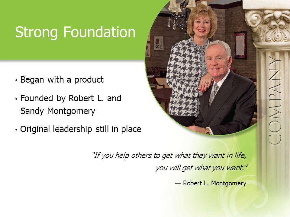 Strong Foundation Began with a product Founded by Robert L.
