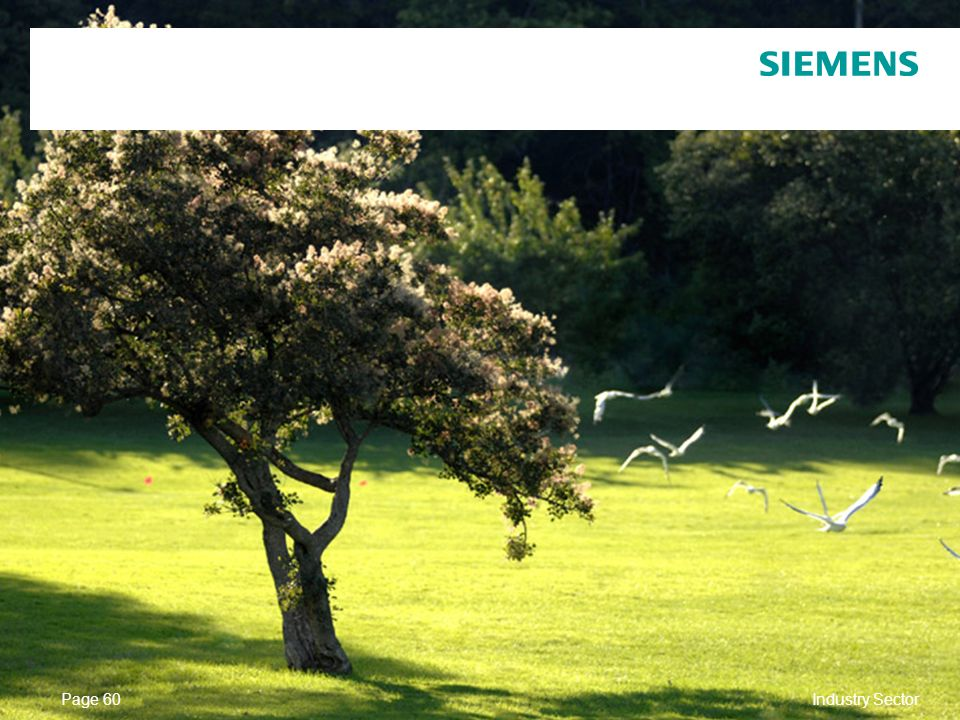 © Siemens AG 2010. All Rights Reserved. Industry Sector Page 60