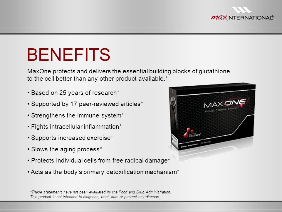 Based on 25 years of research* Supported by 17 peer-reviewed articles* Strengthens the immune system* Fights intracellular inflammation* Supports incr