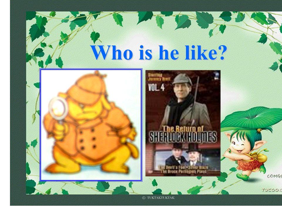 Who is he like?