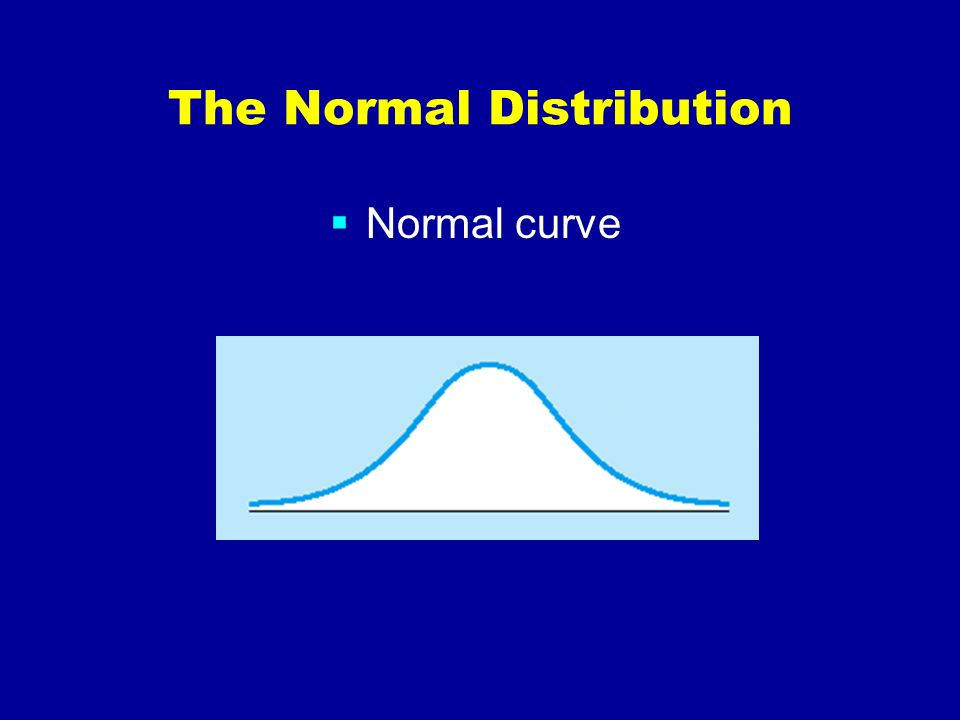 The Normal Distribution Normal curve and percentage of scores between the mean and 1 and 2 standard deviations from the mean