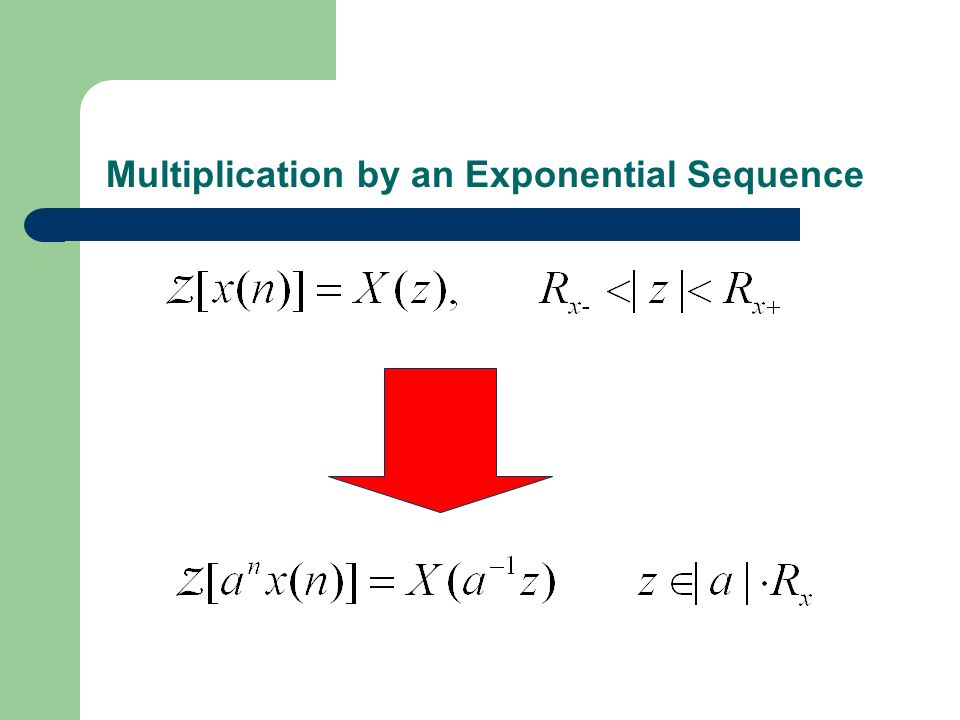 Multiplication by an Exponential Sequence