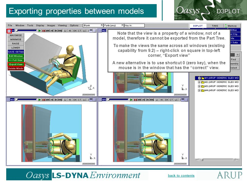 back to contents Exporting properties between models Note that the view is a property of a window, not of a model, therefore it cannot be exported fro