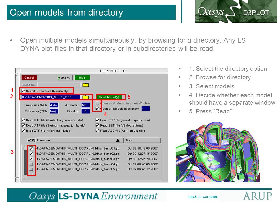back to contents Open models from directory Open multiple models simultaneously, by browsing for a directory.
