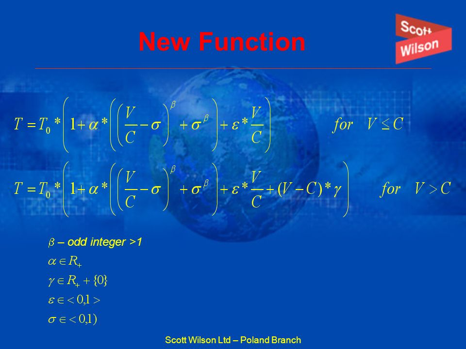 Scott Wilson Ltd – Poland Branch New Function – odd integer >1