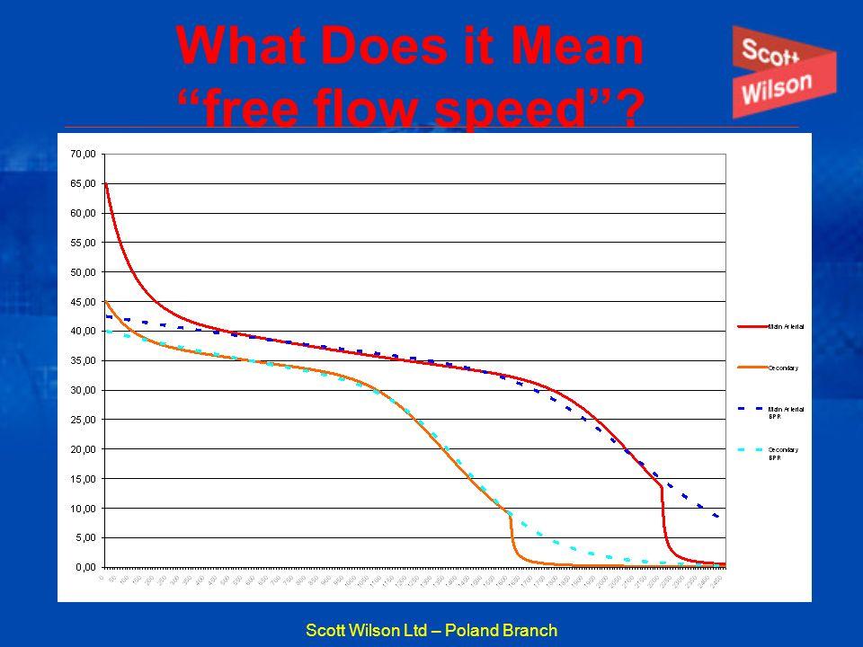 Scott Wilson Ltd – Poland Branch What Does it Mean free flow speed?