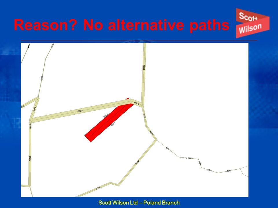 Scott Wilson Ltd – Poland Branch Reason? No alternative paths