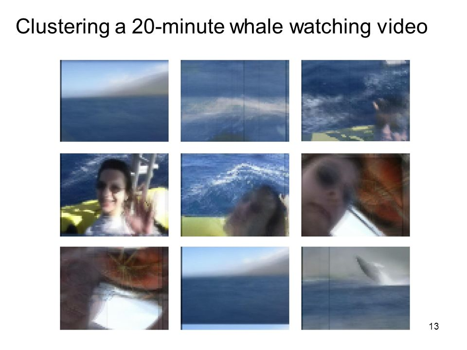 13 Clustering a 20-minute whale watching video