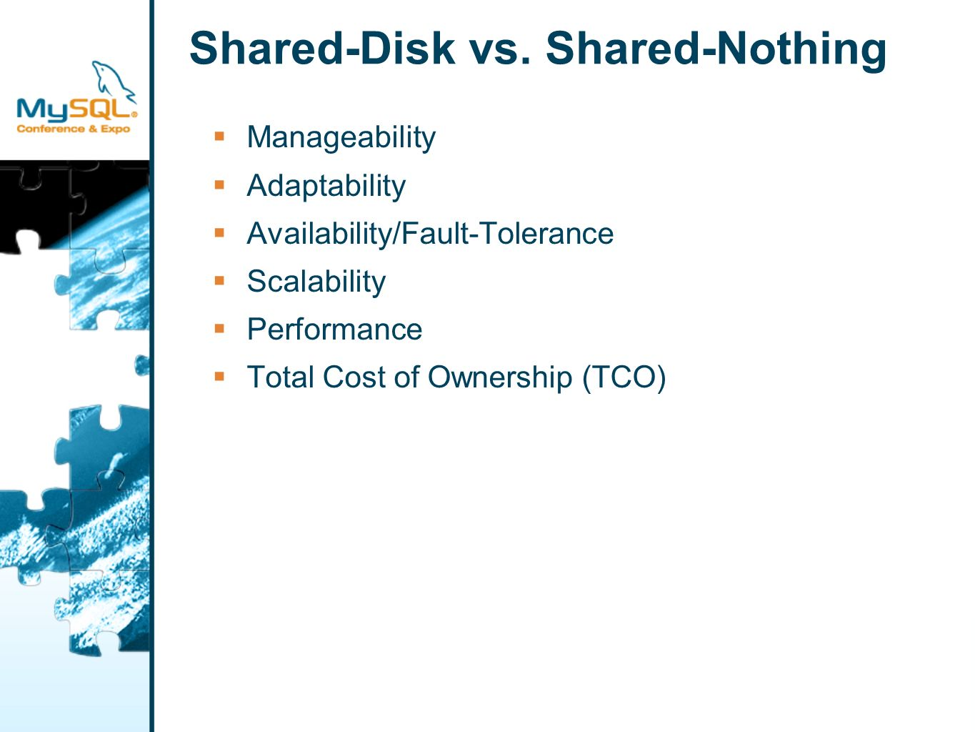 Shared-Nothing: Database Instance 1 Table A Table B Table C Database Instance 1 Database Instance 2 Database Instance 3 Table A Table B Table C Vertical Partitioning