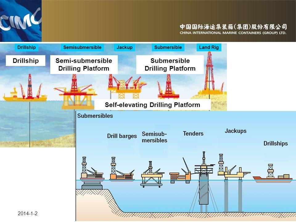 25 2014-1-2 DrillshipSemi-submersible Drilling Platform Self-elevating Drilling Platform Submersible Drilling Platform