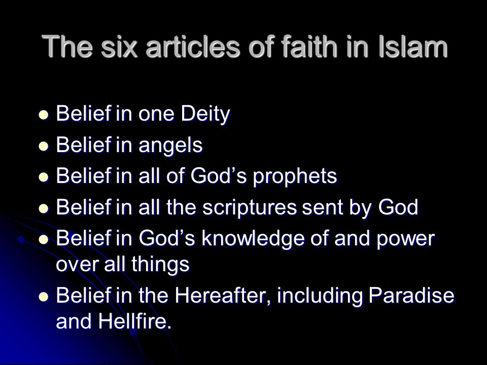 a review of articles on faith and belief