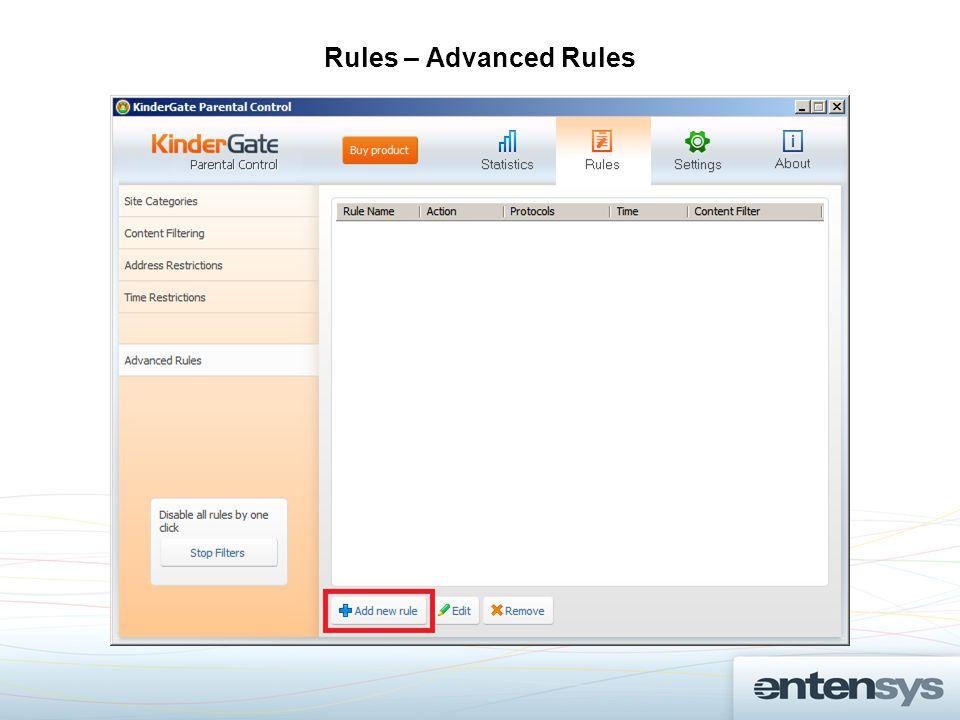 Rules – Advanced Rules
