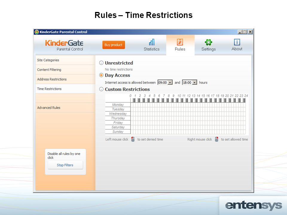 Rules – Time Restrictions