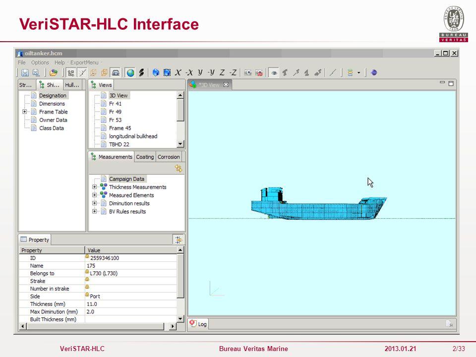 2/33 VeriSTAR-HLC Bureau Veritas Marine 2013.01.21 VeriSTAR-HLC Interface