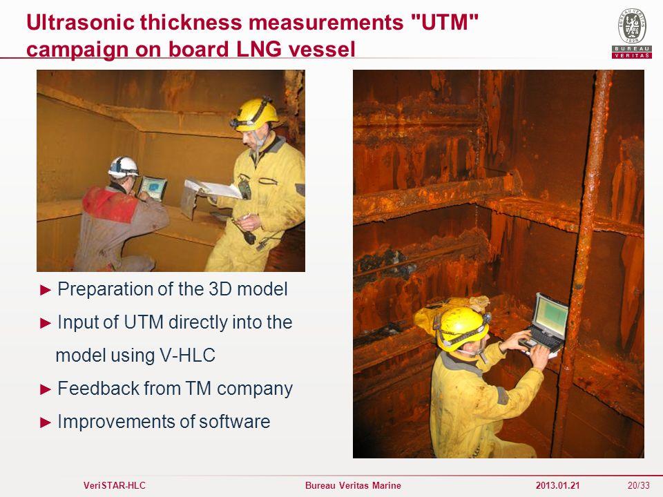 20/33 VeriSTAR-HLC Bureau Veritas Marine 2013.01.21 Ultrasonic thickness measurements