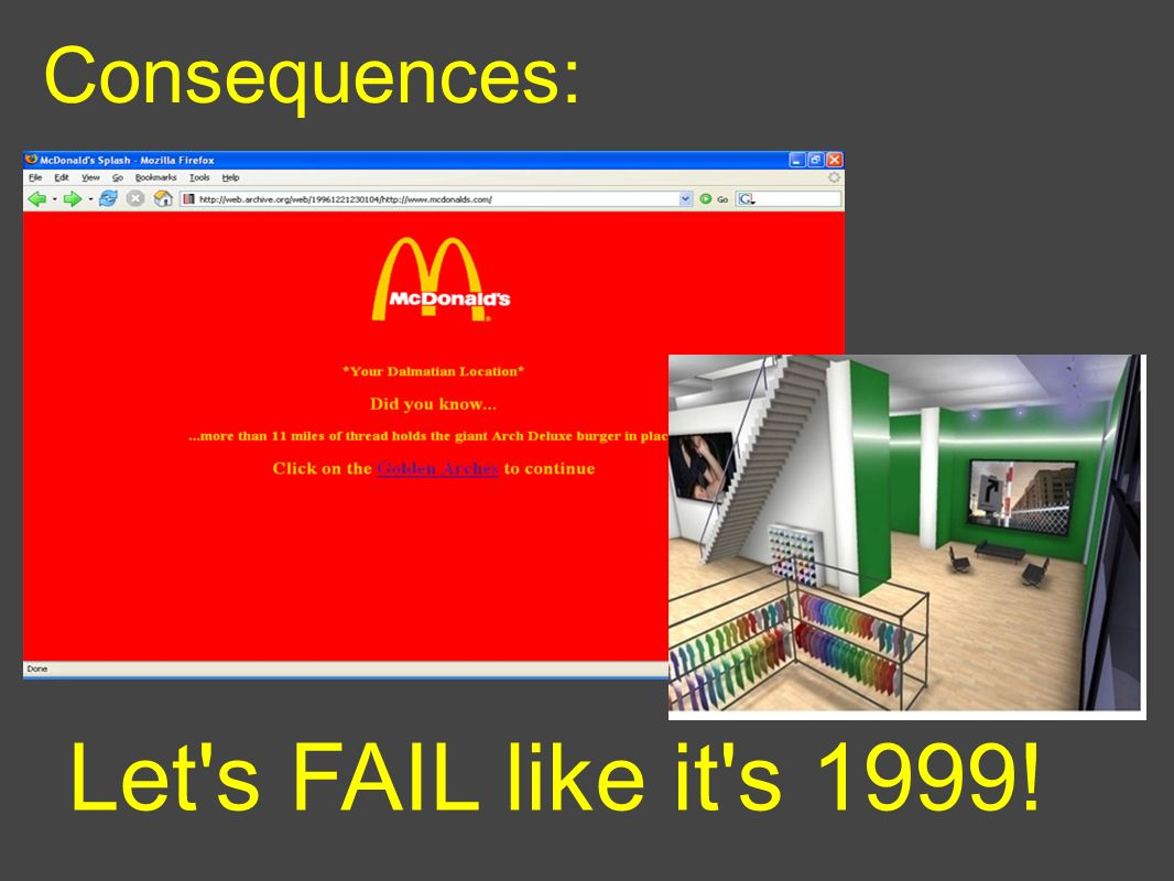 Consequences: Let s FAIL like it s 1999!