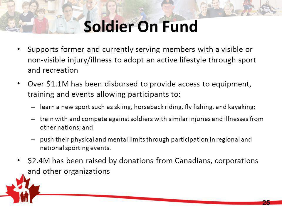 Soldier On Fund Supports former and currently serving members with a visible or non-visible injury/illness to adopt an active lifestyle through sport