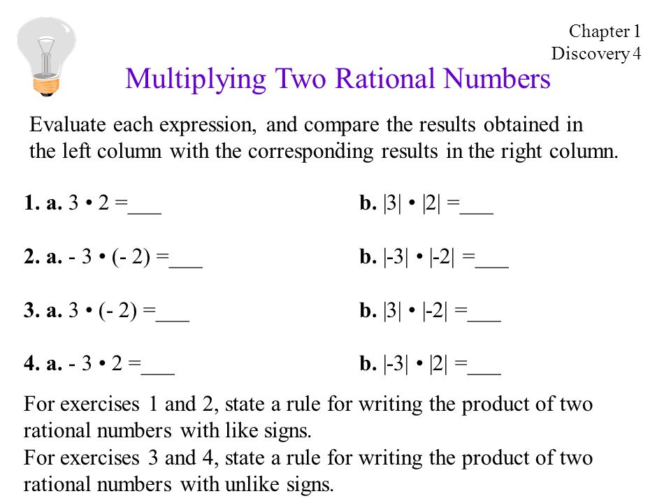 Multiplying Two Rational Numbers. 1. a. 3 2 =___b.