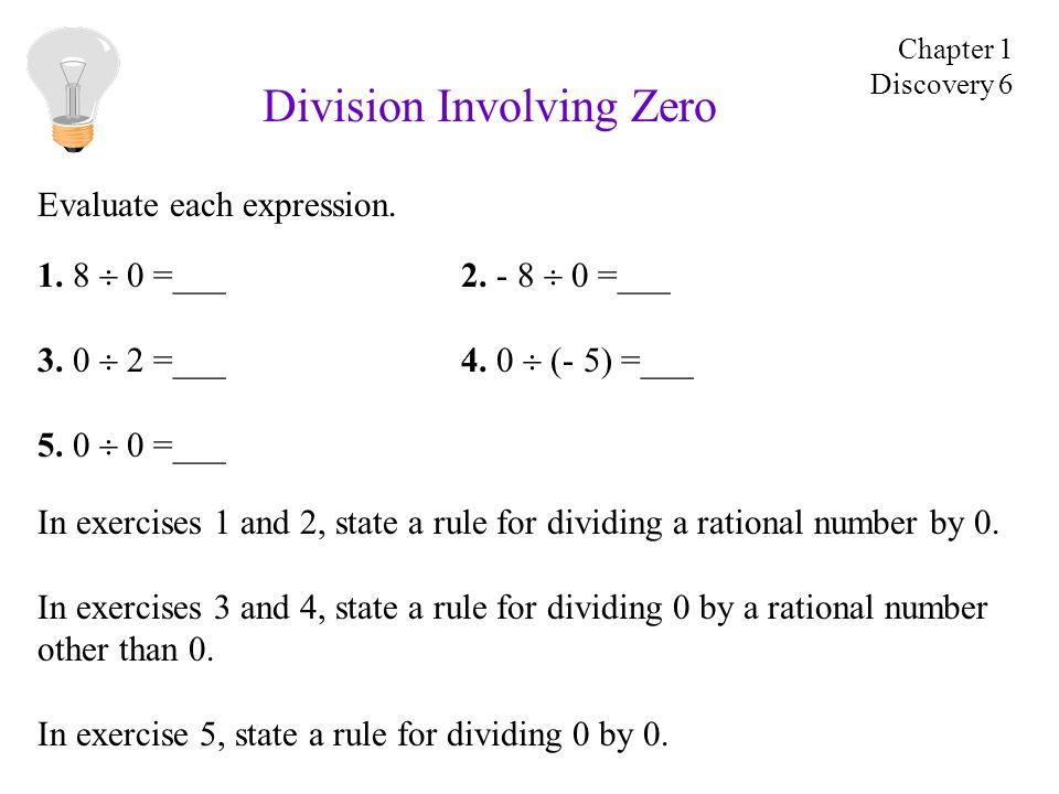 Division Involving Zero 1. 8 0 =___2. - 8 0 =___ 3.