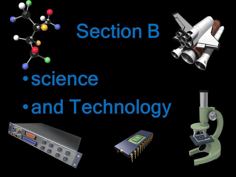 Section B science and Technology science and Technology