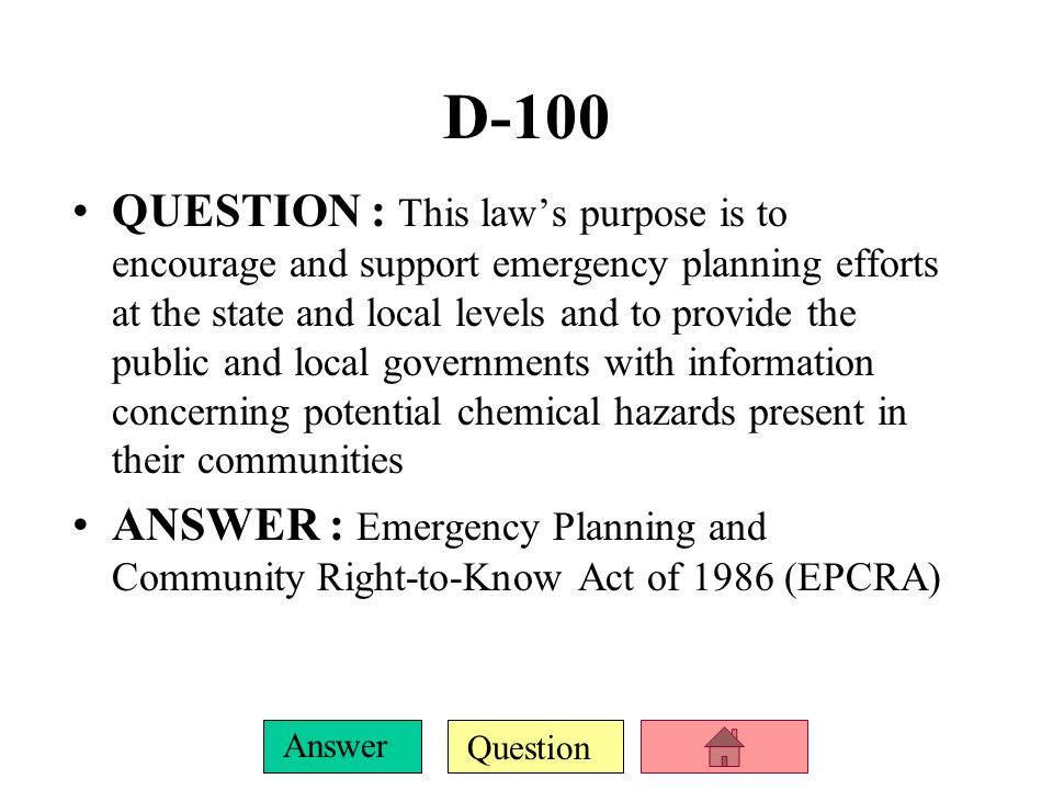 Question Answer C-500 QUESTION : The OPA also created the national ---------?, which is available to provide up to one billion dollars per spill incident ANSWER : Oil Spill Liability Trust FundOil Spill Liability Trust Fund