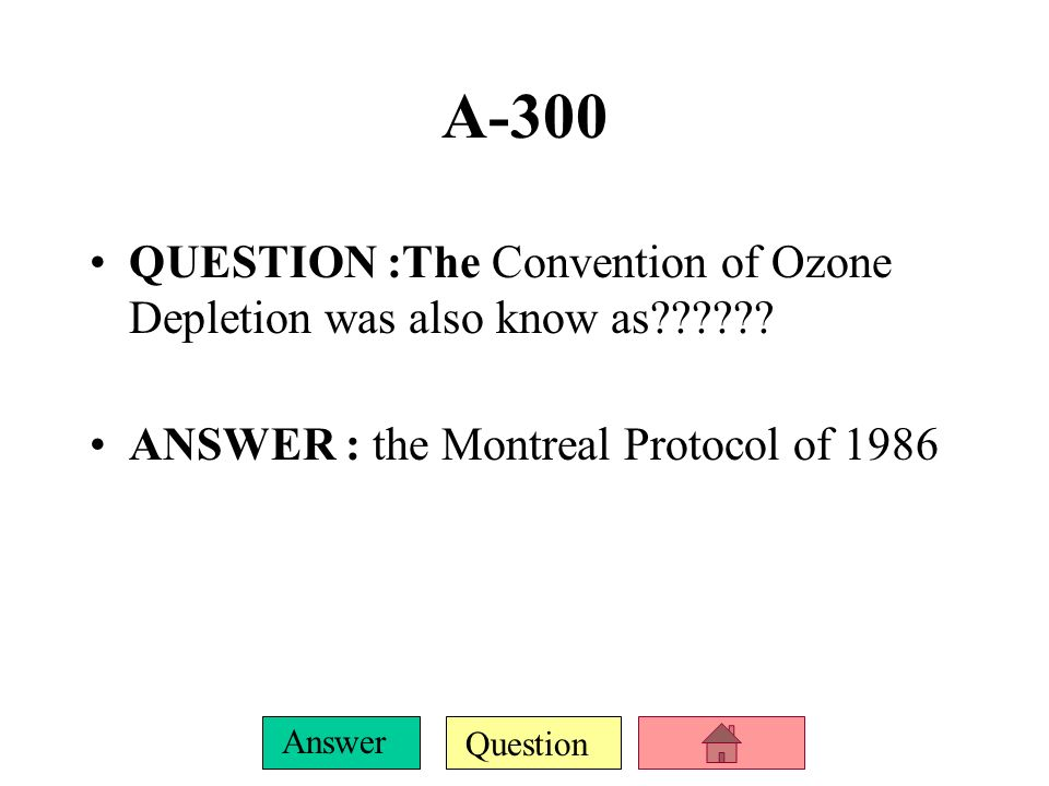 Question Answer A-200 QUESTION : the Congress passed the Clean Air Act in ------ Congress ANSWER : 1963