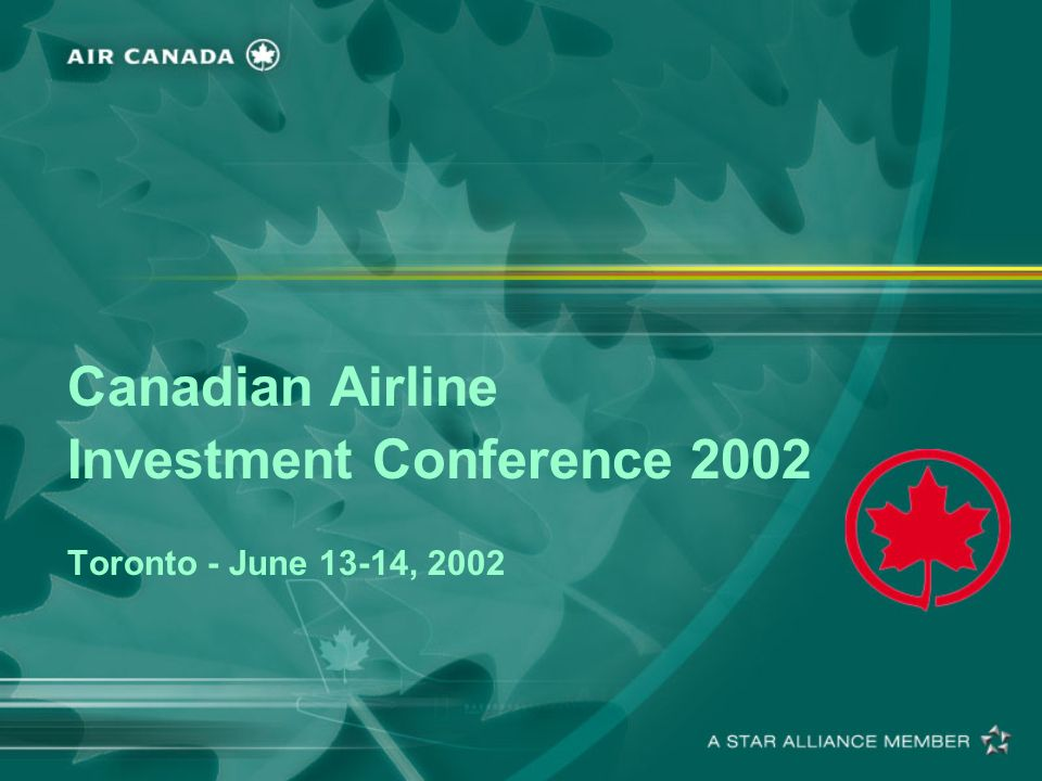 12 Aircraft Financing Pre and Post September 11 These financings occurred during September 12th to December 2001