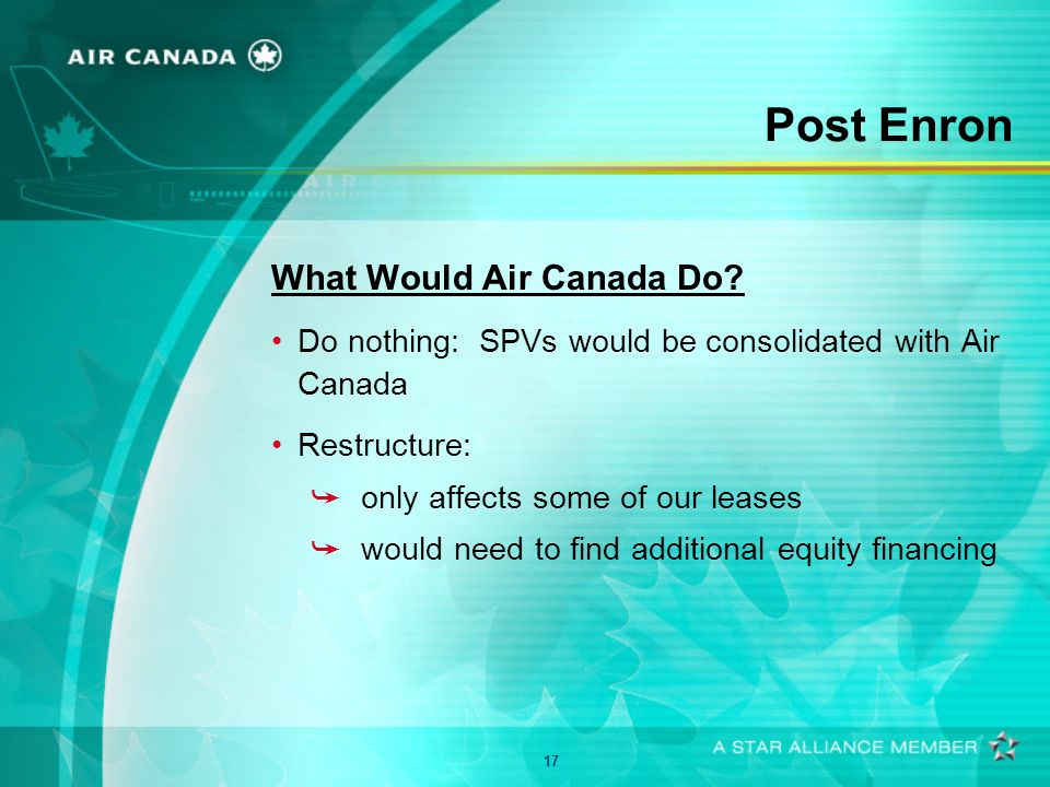 17 Post Enron What Would Air Canada Do.